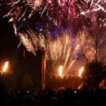 Swords Fire Works as part of Octoberfest