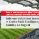 VOlunteer at the LGFA Semi Finals in Croke Park